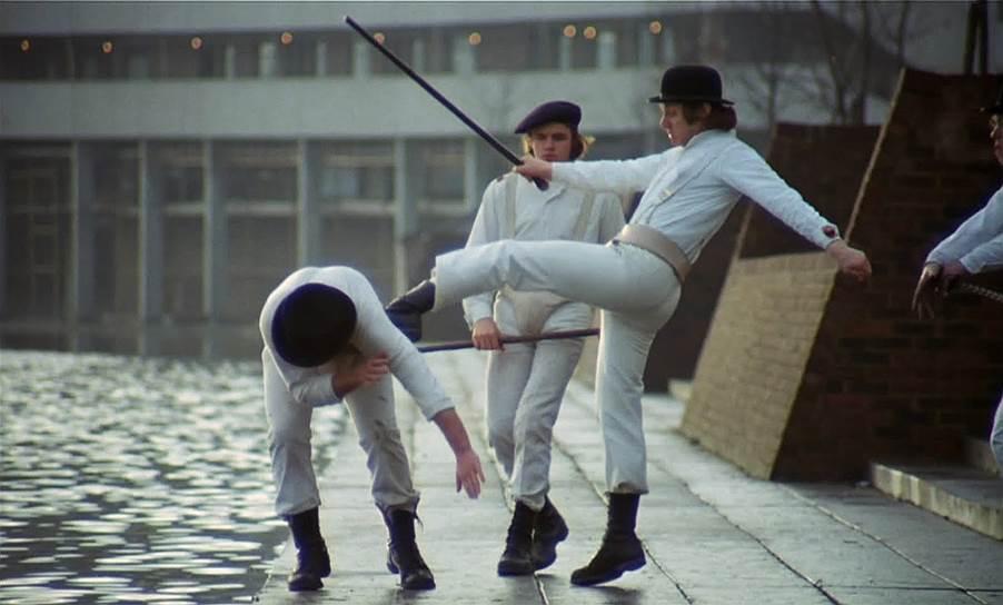 Кадр из фильма Стэнли Кубрика «Заводной апельсин» (1971)