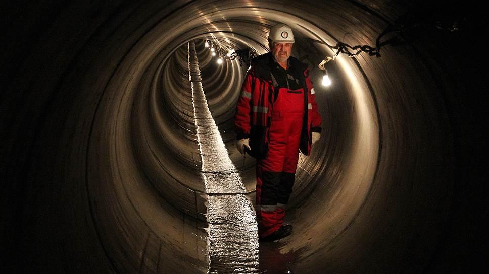 Строительство тоннеля под Сайменским каналом для прокладки трубы газопровода «Северный поток»