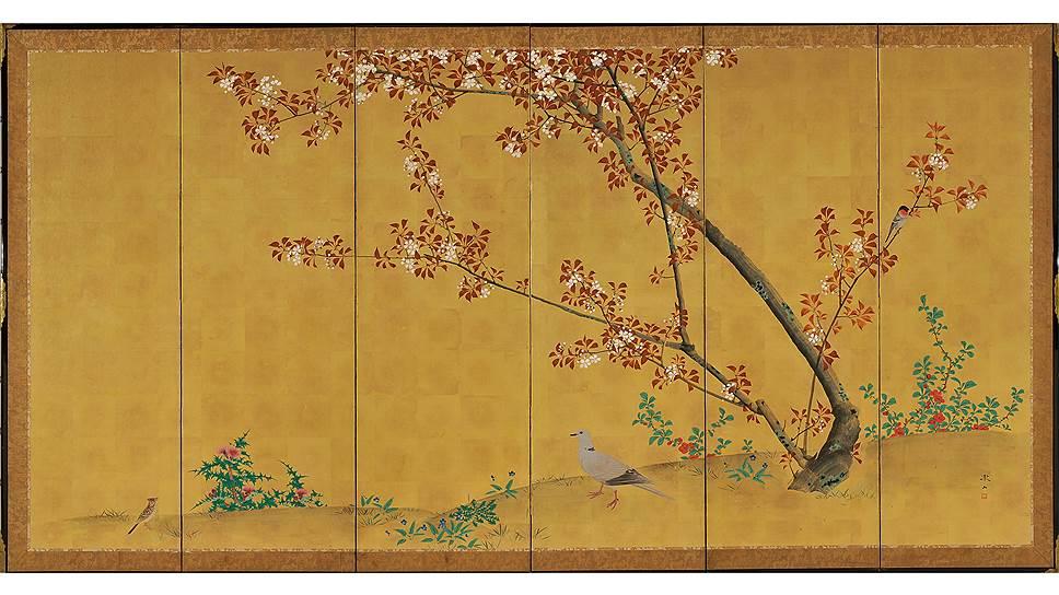 Китагава Утамаро (1753 (?) — 1806). «Красавица Окита из чайного домика Нанивая.» Двусторонняя гравюра