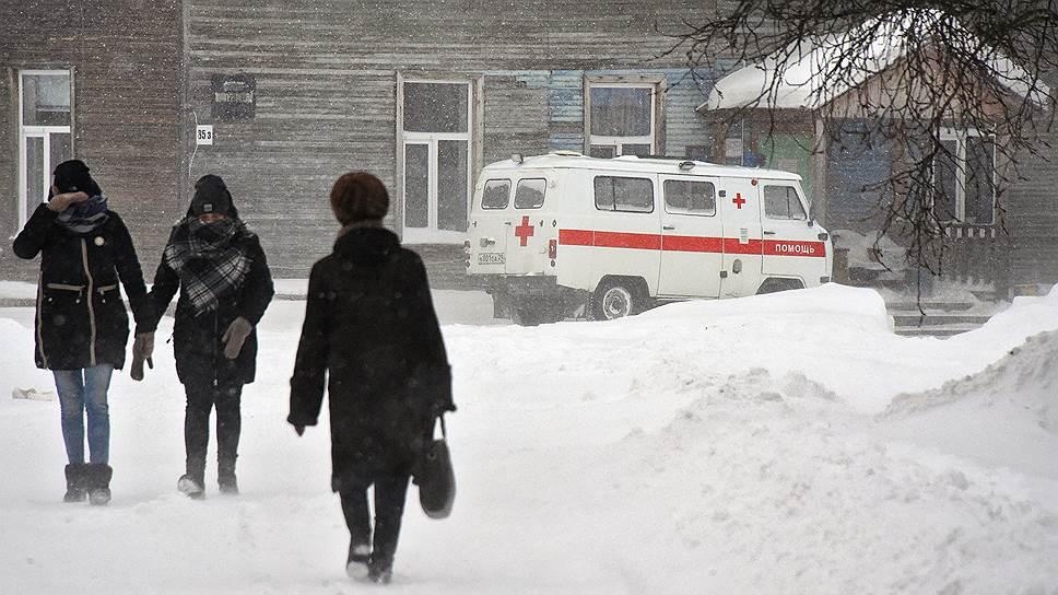 Большая часть мезенской больницы по-прежнему деревянная
