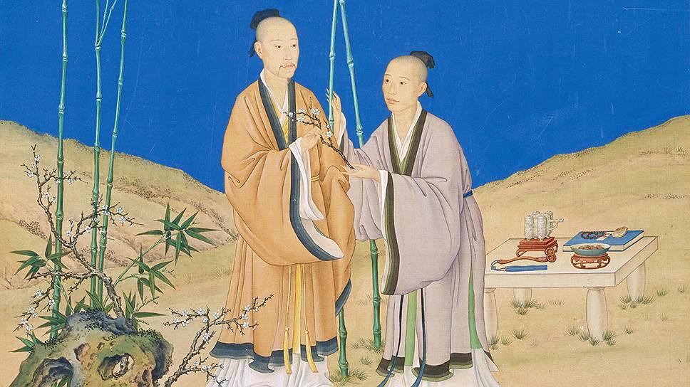 «Послание безмятежной весны» Джузеппе Кастильоне (Лан Шинин). Эпоха Цин, правление Цяньлун