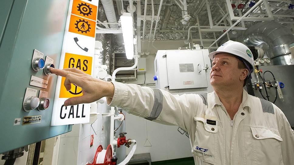В команде газовоза не только моряки, но и операторы уникального оборудования, которым оснащен танкер