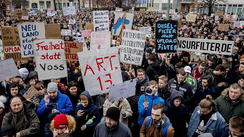 Новые евродирективы по авторскому праву в цифровом сегменте столкнули поколения. Протесты против статей 11 и 13 выплеснулись на улицы