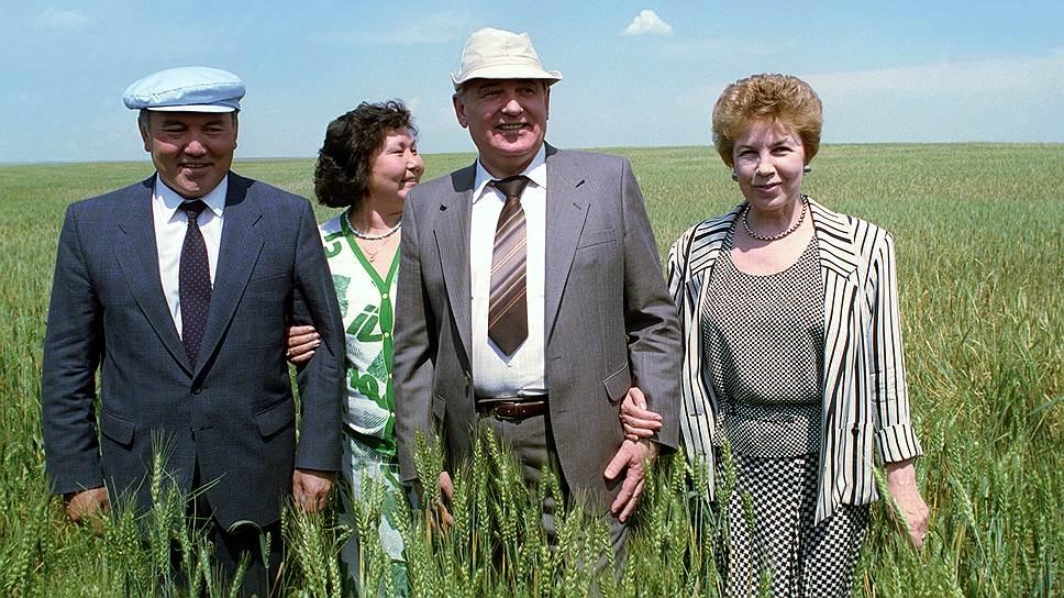 Май 1991-го — визит президента СССР Михаила Горбачева и Раисы Горбачевой в Казахстан, где их принимают президент Нурсултан Назарбаев и Сара Назарбаева. Через несколько месяцев Советского Союза не станет