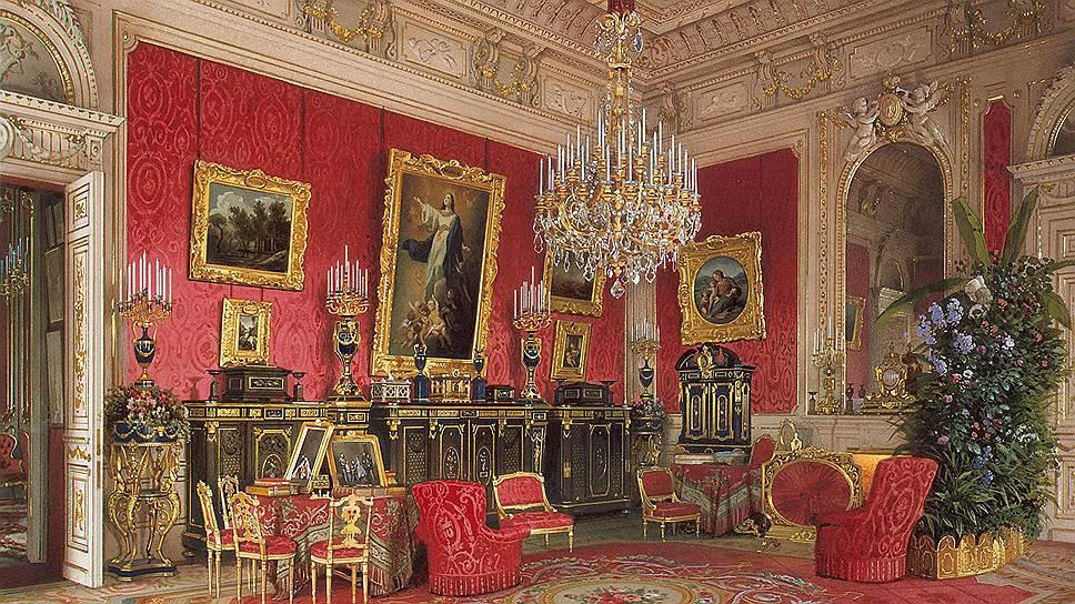 Так выглядел Зимний дворец до «большой распродажи». В глубине зала можно разглядеть «Мадонну Альба» Рафаэля