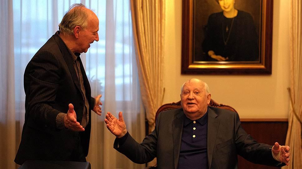 Кадр из фильма «Встреча с Горбачевым», режиссеры Вернер Херцог и Андре Сингер