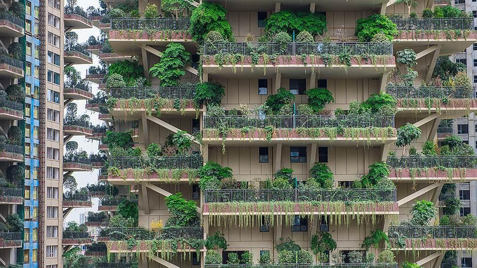 Сады на балконах и крышах домов — одна из особенностей провинции Сычуань