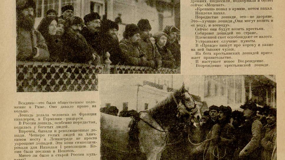 Как выживала лошадь вместе со страной — в публикациях «Огонька»