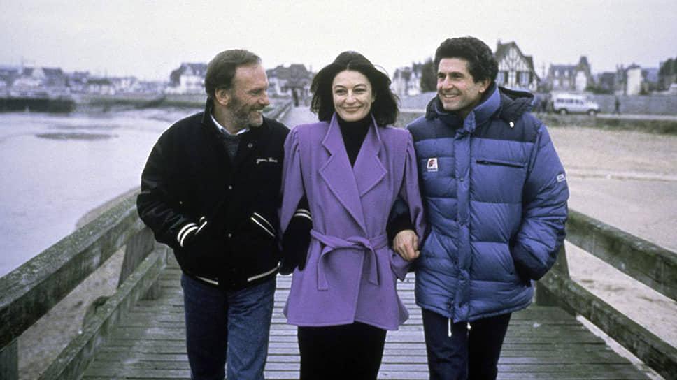 Съемки фильма «Мужчина и женщина 20 лет спустя», 1986 год