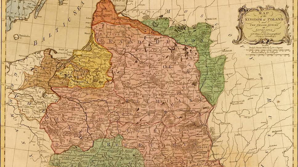 На карте королевства Польского и Великого княжества Литовского, составленной в 1777 году, Белоруссии не сыскать