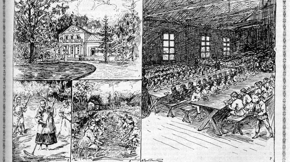 Рисунки Ивана Грабовского (ученика Ильи Репина) запечатлели будни первой детской колонии