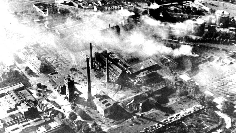 Варшава в октябре 1939-го. После немецких налетов и обстрелов