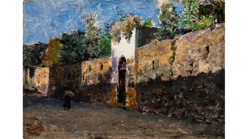 Мариано Фортуни. «Улица Гранателло в Портичи». 1874 год