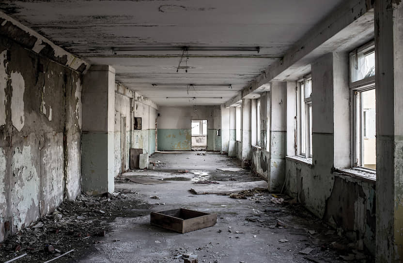 Коридор заброшенной школы в том же поселке