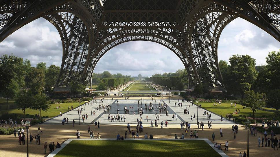 Проект по созданию парка в центре Парижа вокруг Эйфелевой башни