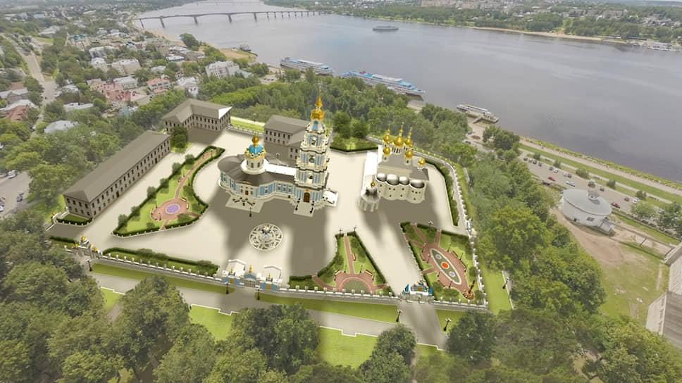 Таким будет Костромской кремль (цифровая модель)