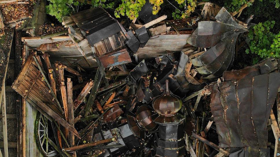 Вот и все, что осталось от Никольского храма в селе Ранцево