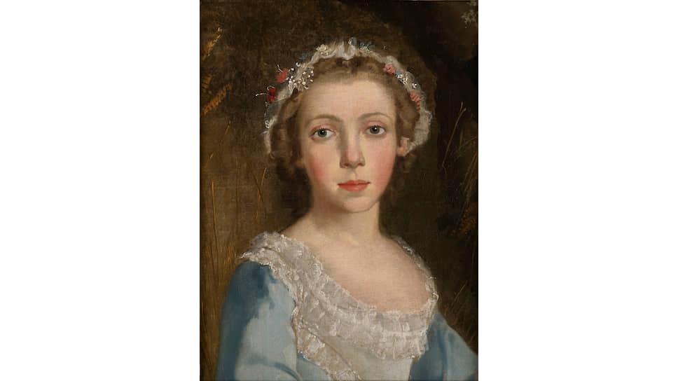 «Портрет девочки», фрагмент. Около 1744 года