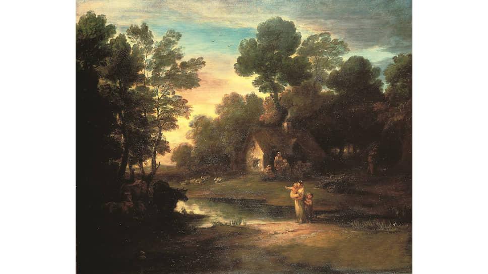 «Лесной пейзаж со стадом у водоема». 1782 год