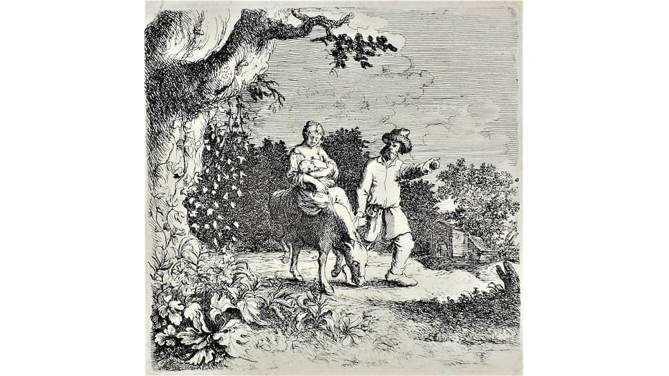 Виллем Бассе.«Бегство в Египет».1648