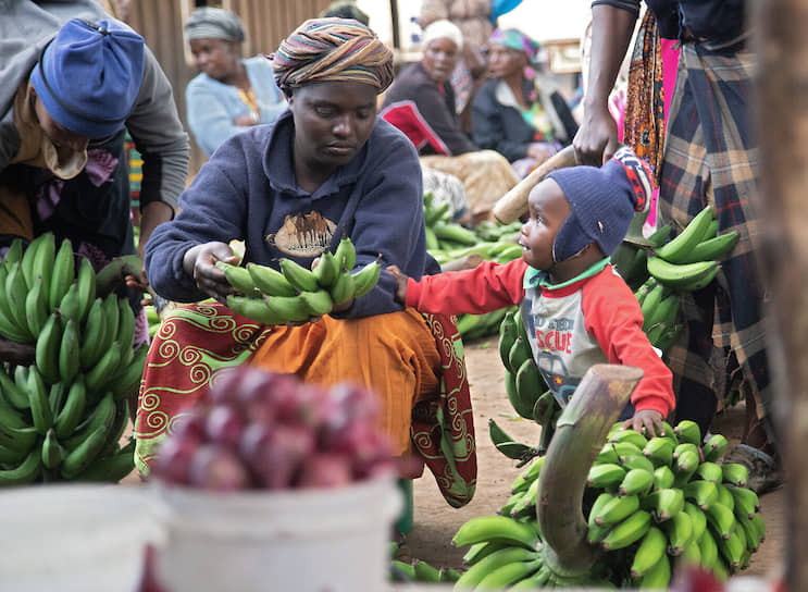 Танзанийцы, живущие у национального парка Килиманджаро, всегда стараются что-нибудь продать начинающим альпинистам