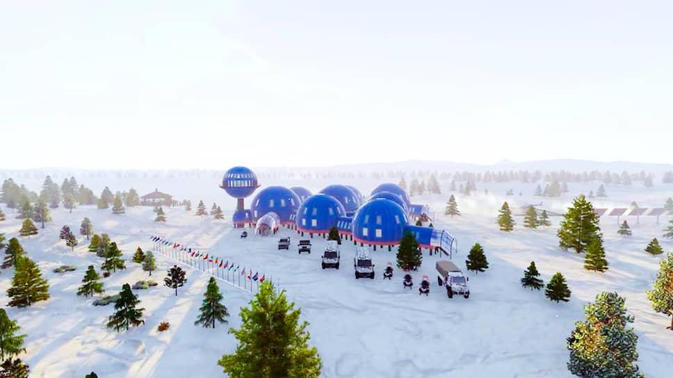 «Снежинка» похожа на городок марсиан