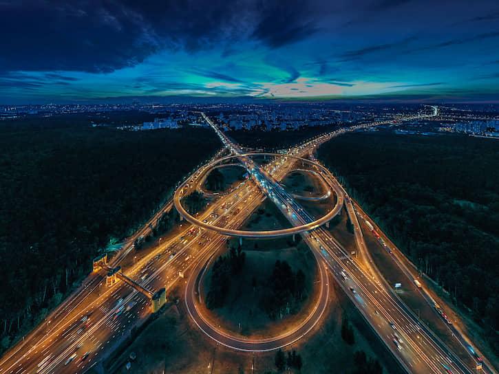Развязка на МКАД. Новорязанское шоссе