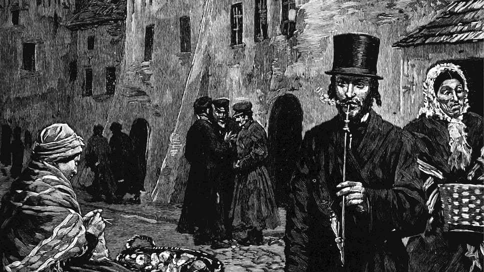 Еврейские гетто в польских городах существовали веками. На этой гравюре XIX века — гетто в Кракове