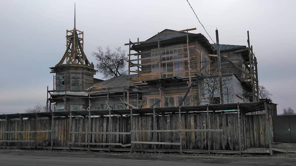 Дом Осипова в Новозыбкове во время реставрации