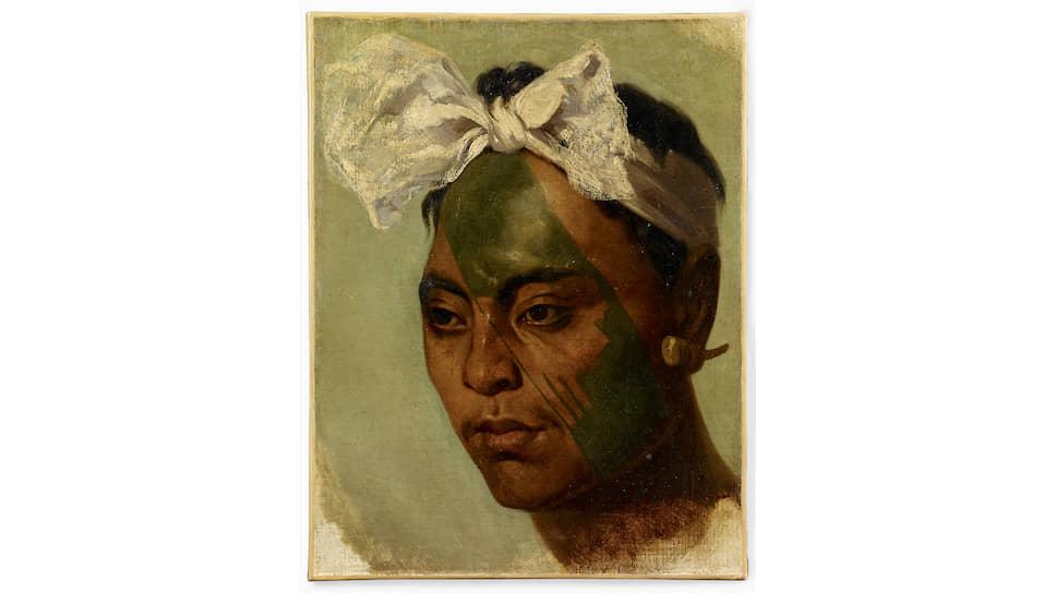 Татуированный житель Маркизских островов, Океания. XIX век