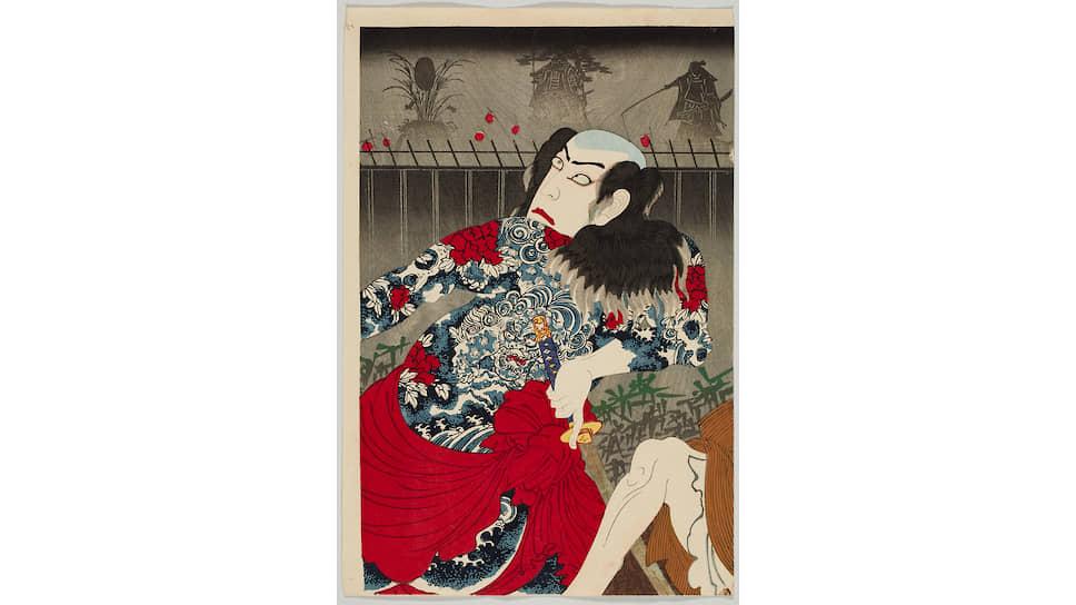 Японские актеры в XIX веке наносили тату на кожу как на холст — для дополнительной выразительности
