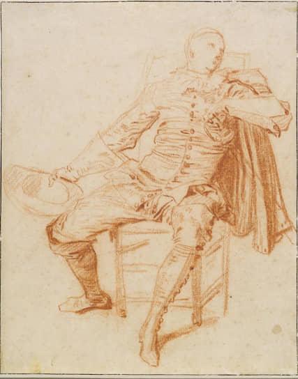 Антуан Ватто. «Актер в костюме Криспена». Около 1715–1716 года