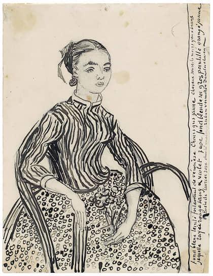 Винсент Ван Гог. «Портрет молодой девушки». 1888 год