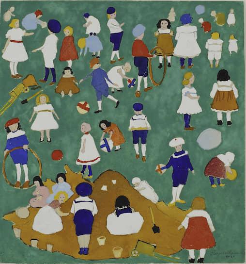 Казимир Малевич. «Дети на лужайке». 1908 год