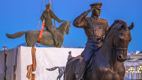 План моментальной пропаганды // Памятник маршалу Жукову попал в большую переделку