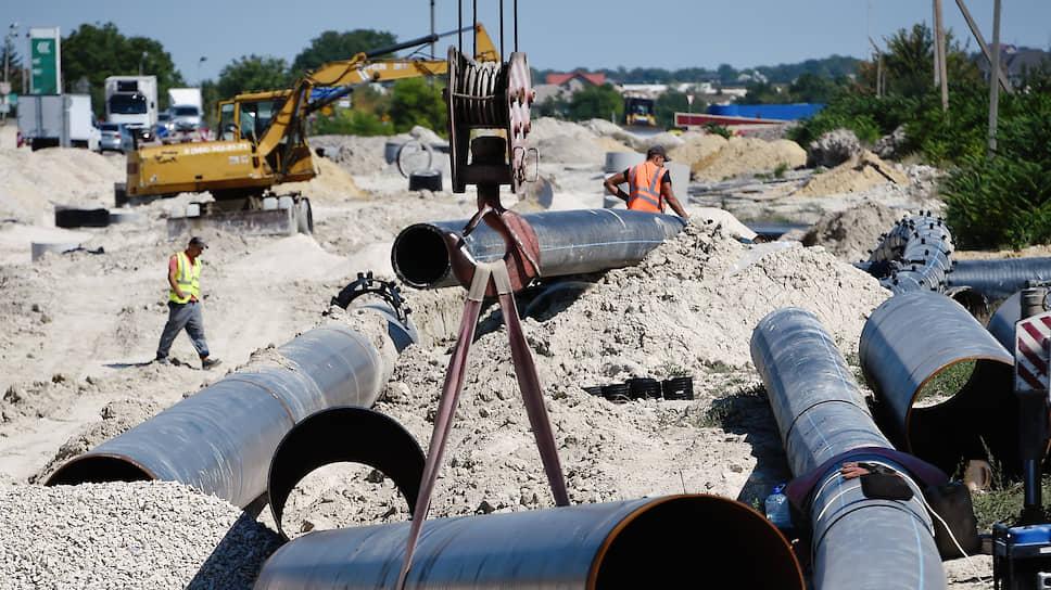 Укладка труб водоснабжения