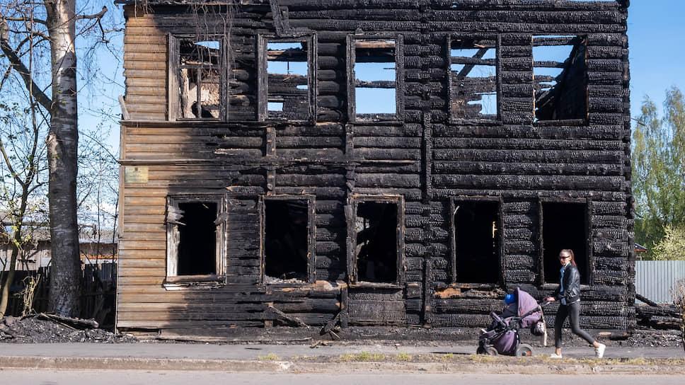 Сгоревший дом купца Шабанина