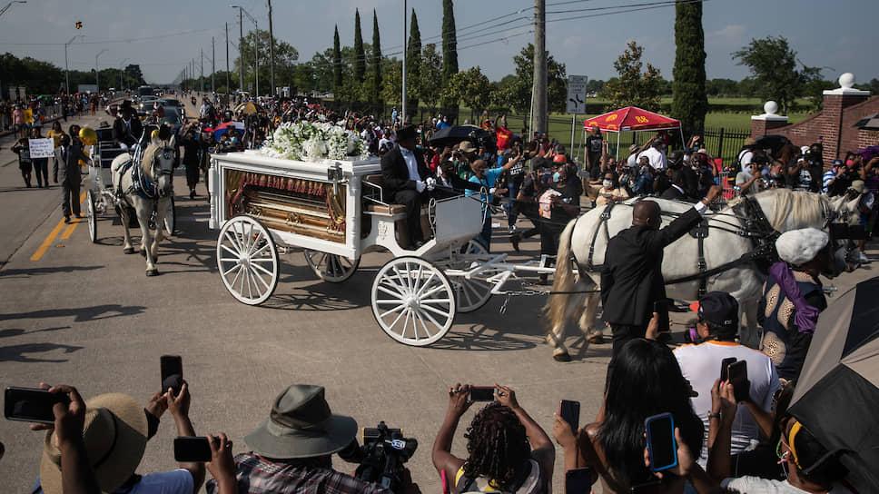 Похороны афроамериканца Джорджа Флойда, погибшего во время задержания полицией
