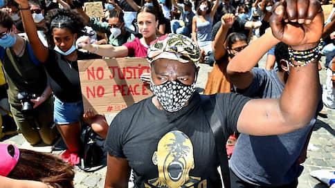 Черно-белая волна  / Массовые протесты против расизма перекинулись из США в Европу