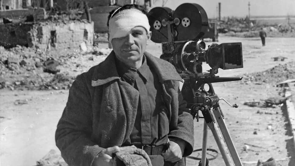 Оператор Евгений Ефимов, один из создателей фильма «Если завтра война». 1941 год