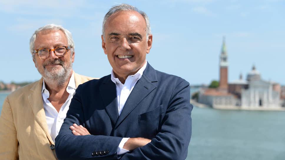 Руководители Венецианского фестиваля Роберто Чикутто (слева) и Альберто Барбера