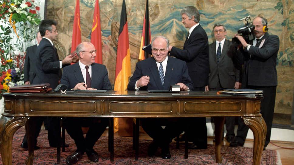 Как бы ни спорили они за закрытыми дверями, на людях Коль и Горбачев всегда демонстрировали взаимную симпатию