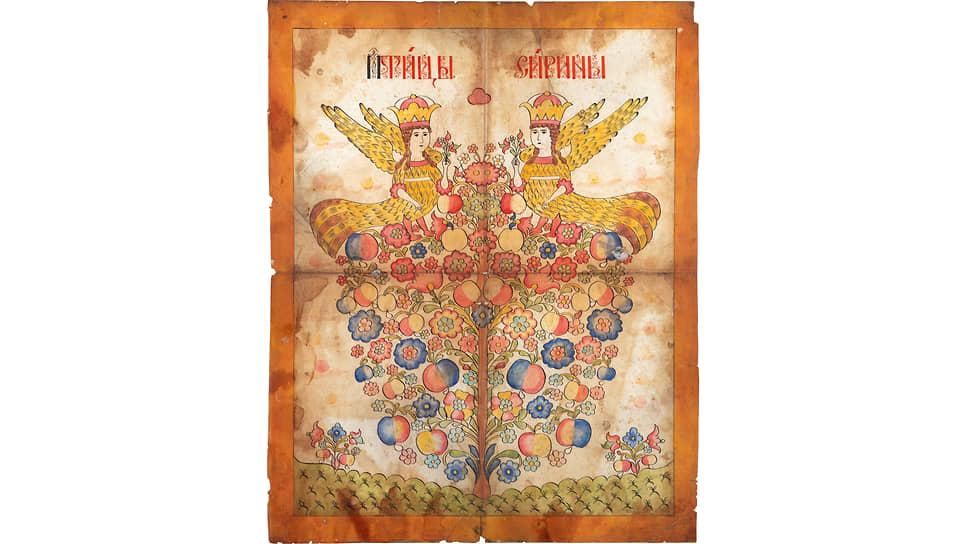 Настенная картинка «Птицы Сирины». Вторая половина XIX века