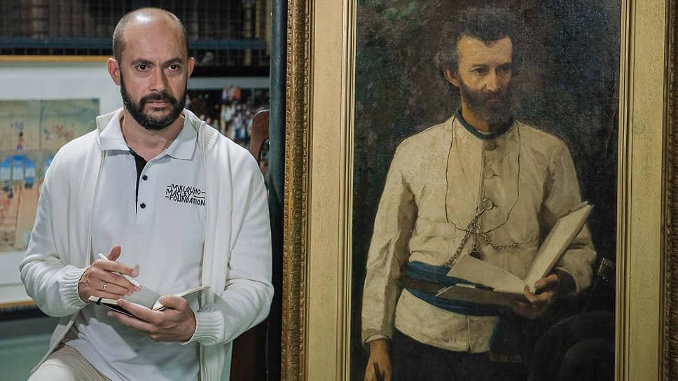 Портрет легендарного Н.Н. Миклухо-Маклая специально для его потомка достали из запасников Митчелловской библиотеки Сиднея