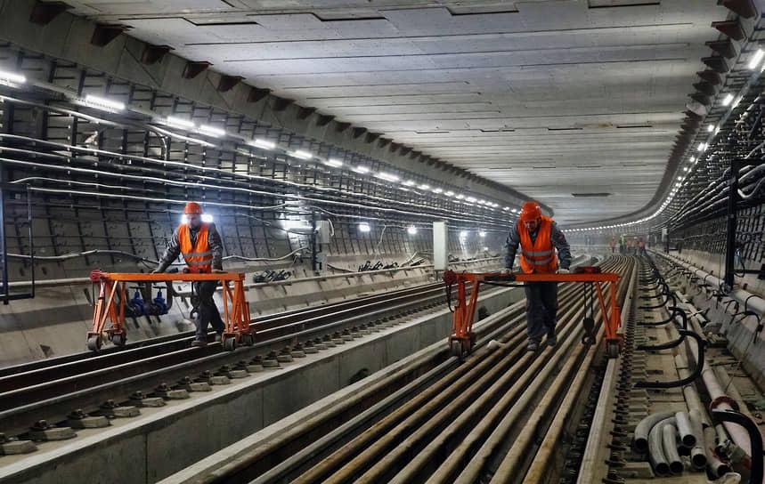 Работы на Некрасовской линии, которая полностью выходит за пределы МКАД