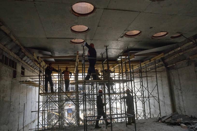 На строительстве станции «Стахановская» Некрасовской линии
