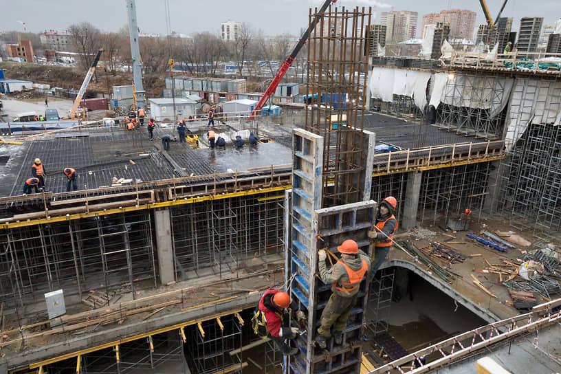 Строительство крупнейшего транспортно-пересадочного узла «Нижегородская»