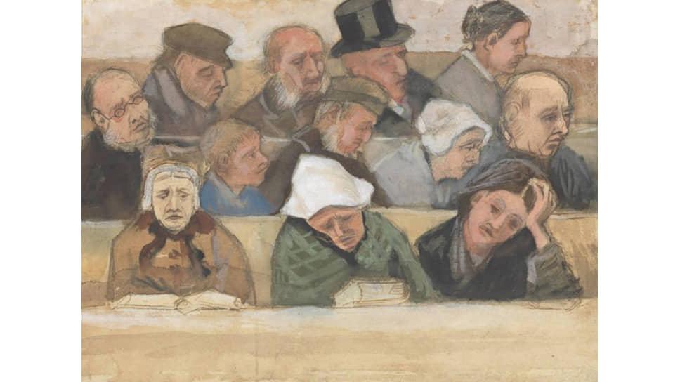 Винсент Ван Гог. «В церкви». 1882 год
