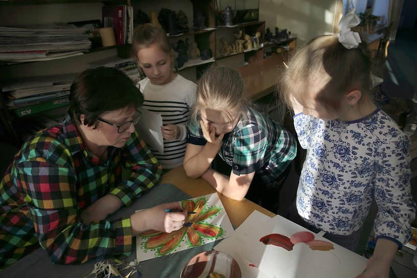 Урок в художественной школе Никеля