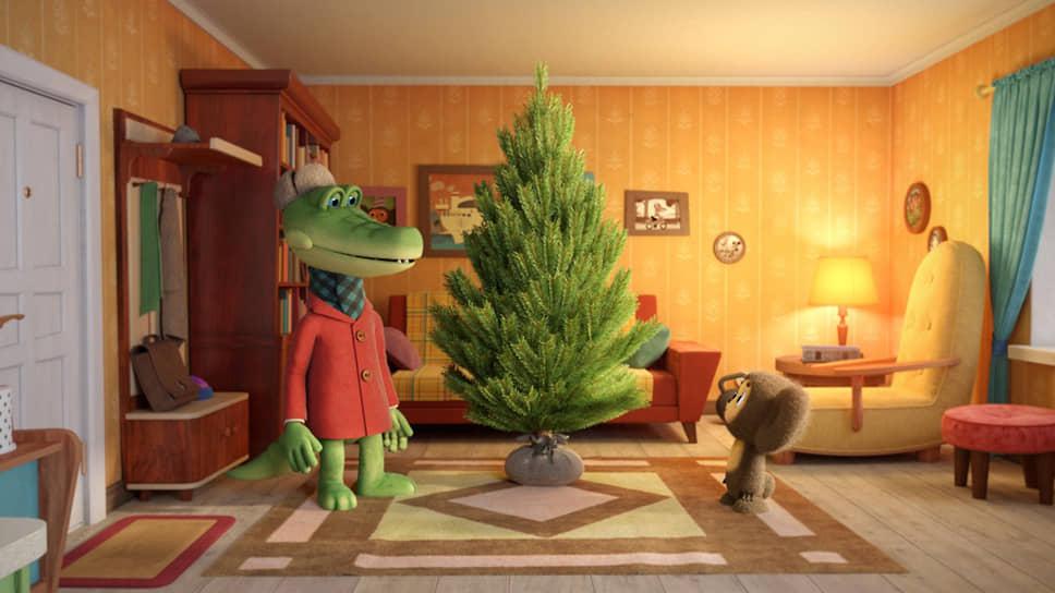 Кадр из новой серии мультсериала о Крокодиле Гене и Чебурашки «Чебурашка. Секрет праздника», 2020 год
